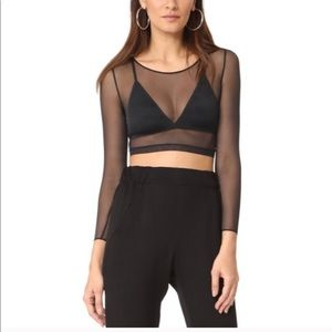 SPANX • Sheer Fashion Mesh Crop Top • XL
